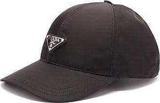Prada Triangle-plaque Nylon Cap - Womens - Black