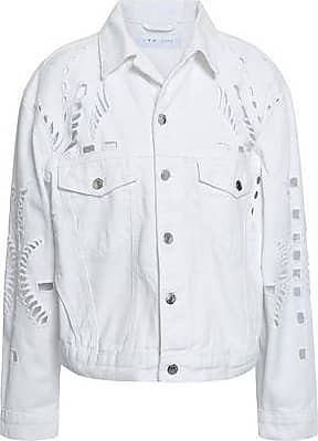 Iro Iro Woman Dinard Broderie Anglaise Denim Jacket White Size 38