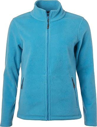 James & Nicholson Ladies Fleece Jacket with Stand-up Collar in Classic Design (XL, Turquoise)