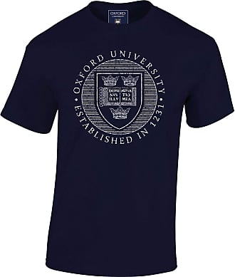 Oxford University Official Distressed Crest T-Shirt - Navy - XX Large