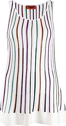 Missoni striped sleeveless tunic top - White