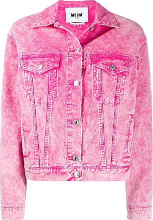 Msgm faded denim jacket - PINK