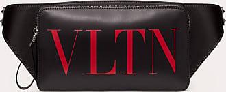 Valentino Garavani Valentino Garavani Uomo Marsupio Vltn In Pelle Uomo Nero/rouge Pur Bovine Leather 100% OneSize