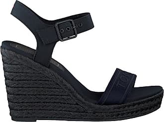 75106eb1689 Tommy Hilfiger Blauwe Tommy Hilfiger Sandalen Colorful Tommy Wedge Sandal
