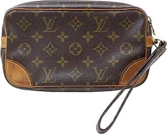 c6d94d5a5cfa Louis Vuitton Marly Dragonne Pochette Pm 868534 Brown Coated Canvas Clutch