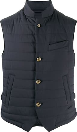 Eleventy quilted sleeveless gilet - Blue