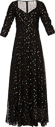Diane Von Fürstenberg Embroidered Dress Womens Black