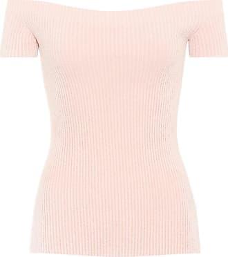 Helmut Lang Knitted off-the-shoulder top