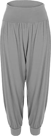 ZEE FASHION New Womens Harem Trousers Ali Baba Long Ladies Girls Pants Baggy Hareem Leggings Plus Size 8-26 Grey