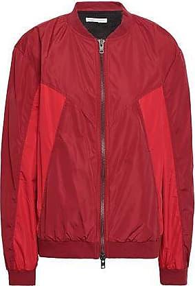 Rebecca Minkoff Rebecca Minkoff Woman Darma Paneled Shell Bomber Jacket Crimson Size S