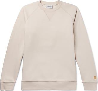 Carhartt Work in Progress Chase Logo-embroidered Fleece-back Cotton-blend Jersey Sweatshirt - Beige