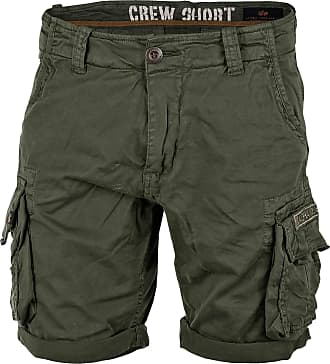 Alpha Industries Crew Shorts dark oliv, Größe 30