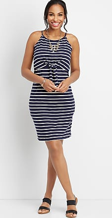 Maurices 24/7 Stripe Knot Front Dress