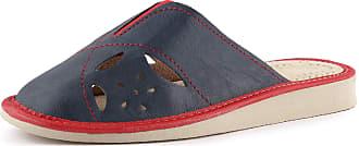 Ladeheid Womens Slippers House Shoes LAFA026 (Navy/Red, 41 EU = 7 UK)