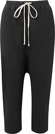 Rick Owens Cotton-jersey Track Pants - Black