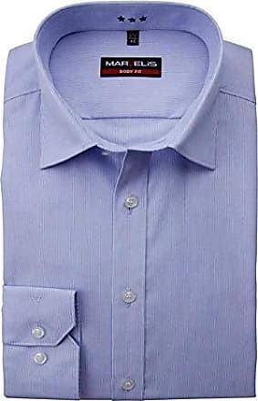 Marvelis body fit Hemd neu blau gemustert Gr 39