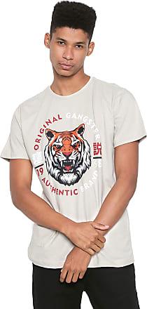 Gangster Camiseta Gangster Tigre Bege