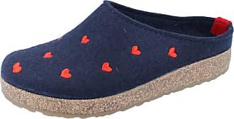 7b102e9b3691 Haflinger Cuoricini Navy Womens Slippers Size 37M