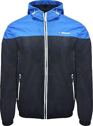 Lambretta Mens Colour Block Hooded Jacket Sports, Blue (Navy/Royal Navy/Royal), XX-Large (Size:2XL)