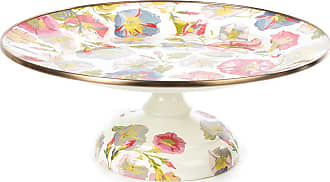 MacKenzie-Childs Morning Glory Pedestal Platter - Small