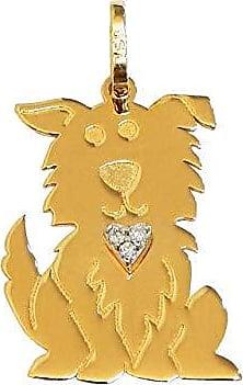 Prado Joias Pingente Em Ouro 18k Cachorro Com Brilhantes