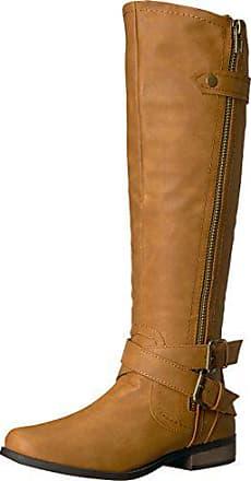 Black Wide Calf 7 M US Rampage Womens Ivelia Fashion Knee High Casual Riding Boot