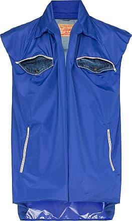 Y / Project Colete com bolso frontal e camada dupla - Azul