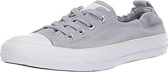 Converse Womens Chuck Taylor All Star Shoreline Linen Slip On Sneaker, Wolf Grey/Pure Platinum/White, 6 M US