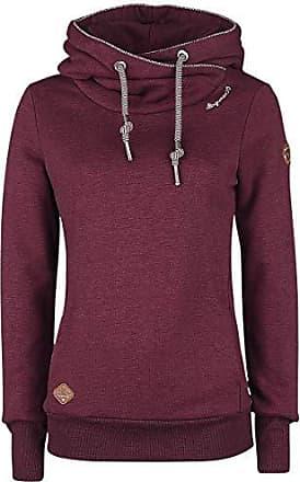 Ragwear Sweatshirt Damen Pullover ohne Kapuze NESKA wine red