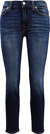 7 For All Mankind Jeans Roxanne Ankle Dunkelblau