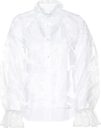 Comme Des Garçons Organza and poplin blouse