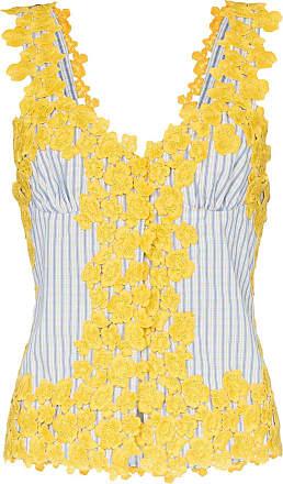 Rosie Assoulin Regata com borado floral - Amarelo