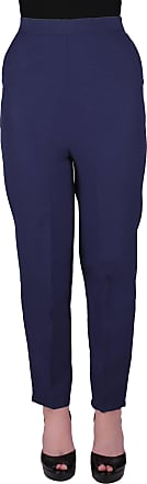 Eyecatch Louisa Ladies Elasticated Waist Trousers Womens Pull On Easy Comfort Fit Regular Length Navy Size 14