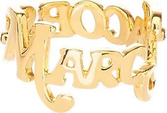 Marc Jacobs Anel The Logo Stack - Dourado