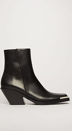 Acne Studios FN-WN-SHOE000188 Black Metal toe cap boots