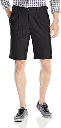 Haggar Cool18 Pleated Shorts 32-52 NEW Navy Black Khaki Taupe Putty