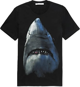 e4593175 Givenchy Cuban-fit Shark-print Cotton-jersey T-shirt - Black
