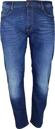 Duke London Duke Mens Ambrose King Size Tapered Fit Stretch Jeans (48R) (Vintage Blue)
