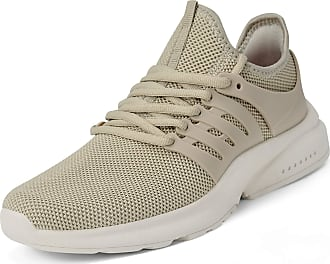 Zocavia Zocavia womens and mens trainers, breathable, lightweight sports shoes, running shoes, hiking shoes, outdoor shoes, 36EU-47EU Beige Size: 12.5 UK