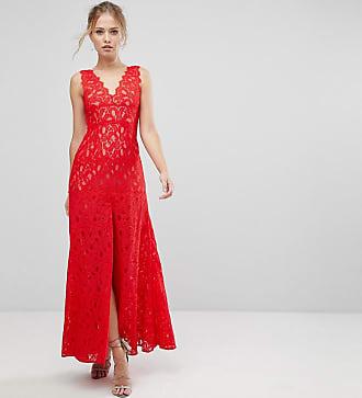 Kleid lang weinrot spitze