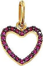 Prado Joias Pingente Em Ouro 18k Coração Zircônias Rosa