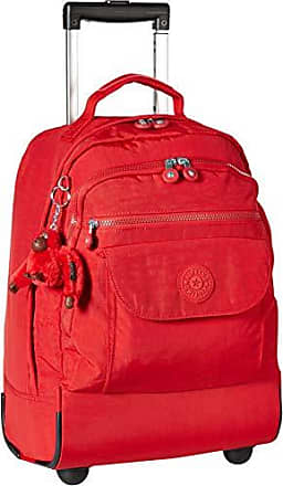 Kipling Sanaa Large Rolling, Adjustable, Padded Backpack Straps, Zip Closure, cherry tonal