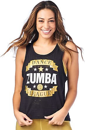 Zumba Burnout Dance Workout Gym Tank Graphic Print Fitness Workout Tops Women, Bold Black 2, L