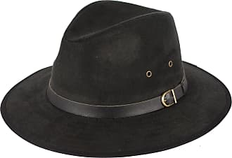 Hat To Socks Faux Suede Black Fedora Hat