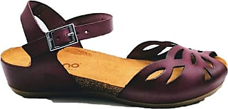 Yokono Casual Leather Sandals Red Size: 8.5 UK