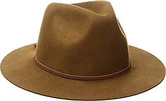 016217153a54c Brixton Mens Wesley Medium Brim Felt Fedora Hat, Coffee, Large