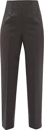 Maison Margiela Tailored Wool Tapered-leg Trousers - Womens - Dark Grey
