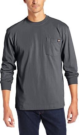 Dickies Mens Big & Tall Long-Sleeve Heavyweight Crew-Neck T-Shirt - Gray - Large Tall