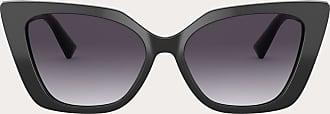 Valentino Valentino Occhiali Occhiale Da Sole Cat-eye In Acetato Vlogo Donna Nero/grigio Sfumato Acetato 100% OneSize