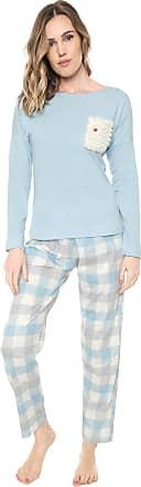 Pzama Pijama Pzama Bolso Pelo Azul